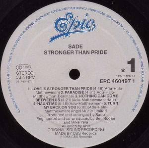 Sade: Stronger Than Pride (LP) - Bild 2