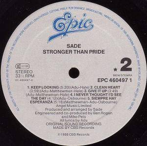 Sade: Stronger Than Pride (LP) - Bild 3