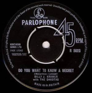 Cover - Billy J. Kramer & The Dakotas: You Want To Know A Secret