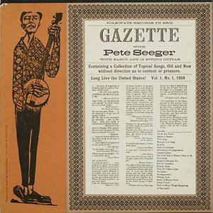 Cover - Pete Seeger: Gazette, Vol. 1, The