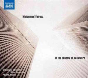 "Philip Glass: Glass: Concerto Fantasy For Two Timpanists And Orchestra / Fairouz: Symphony No. 4 ""In The Shadow Of No Towers"" - Cover"