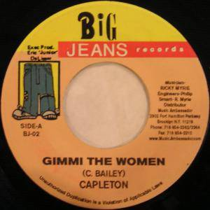 Cover - Capleton: Gimmi The Women