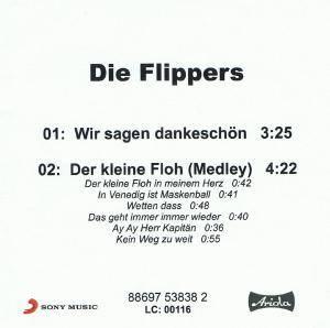 Wir Sagen Dankeschön Promo Single Cd 2009 Von Die Flippers
