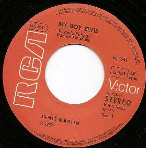 Cover - Janis Martin: My Boy Elvis