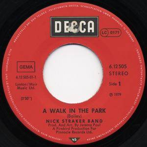"Nick Straker Band: A Walk In The Park (7"") - Bild 2"