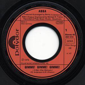 "ABBA: Gimme! Gimme! Gimme! (A Man After Midnight) (7"") - Bild 2"