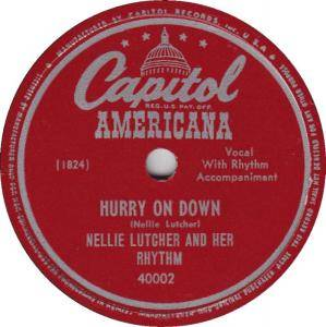 Cover - Nellie Lutcher: Hurry On Down
