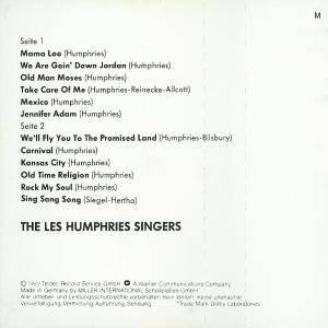 The Les Humphries Singers: Greatest Hits - The Les Humphries Singers (Tape) - Bild 6