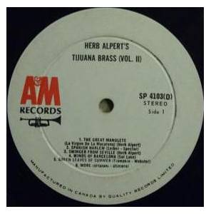 Herb Alpert & The Tijuana Brass: Volume 2 (LP) - Bild 5