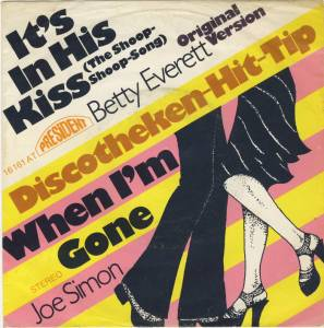 Cover - Betty Everett: It's In His Kiss / When I'm Gone