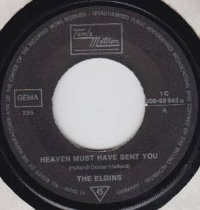 Cover - Elgins, The: Heaven Must Have Sent You
