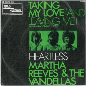 Cover - Martha Reeves & The Vandellas: Taking My Love (And Leaving Me)