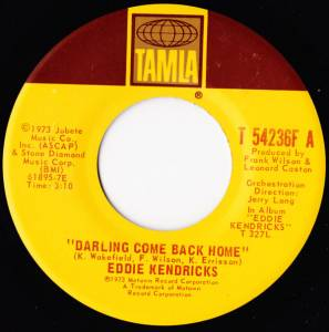 Eddie Kendricks: Darling Come Back Home - Cover