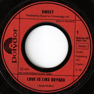 "The Sweet: Love Is Like Oxygen (7"") - Bild 2"