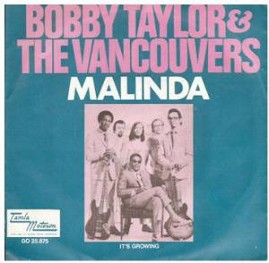 Bobby Taylor & The Vancouvers: Malinda - Cover