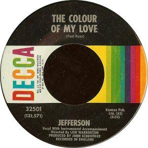 Cover - Jefferson: Colour Of My Love, The